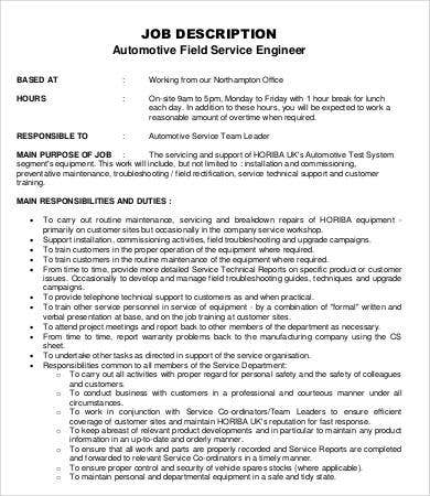 support engineer job description