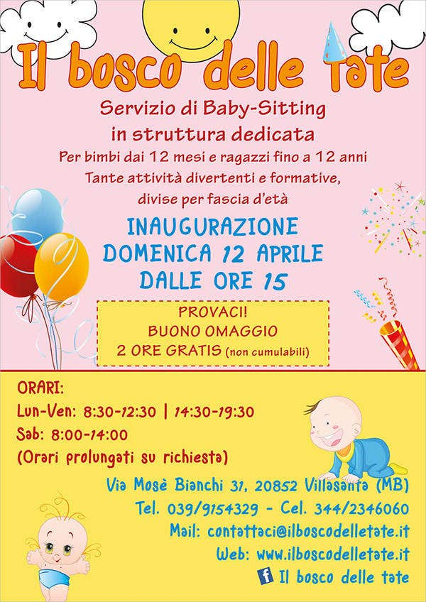 Babysitting Flyer   Free Psd Vector Ai Eps Format Download
