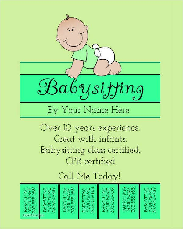 Bien connu Babysitting Flyer - 5+ Free PSD, Vector AI, EPS Format Download  XC28