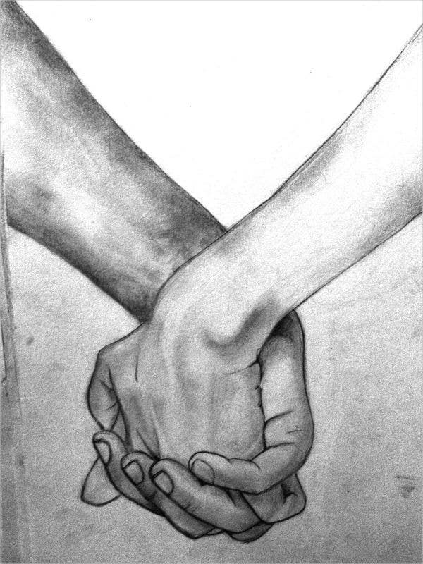 Hold on Tight Hand Drawing