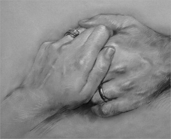 Together For Ever Hand Drawing