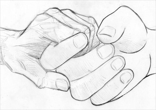 Holding Hand Drawing