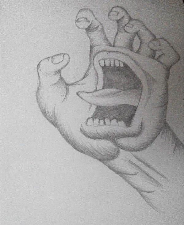 Creative Pencil Hand Drawing