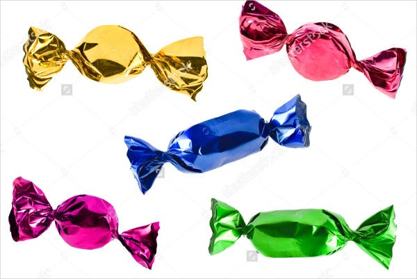 Colorful Candy Wrapper Templates