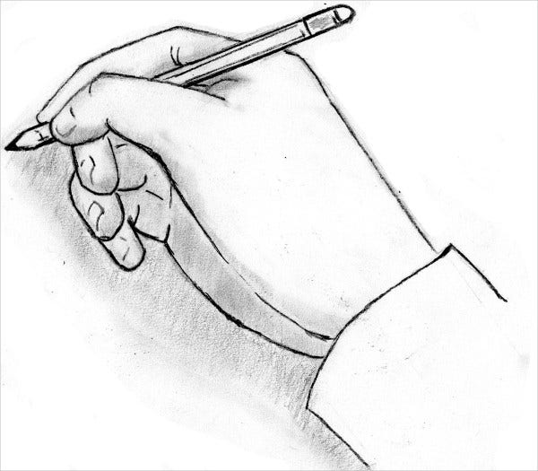 hand pencil drawing