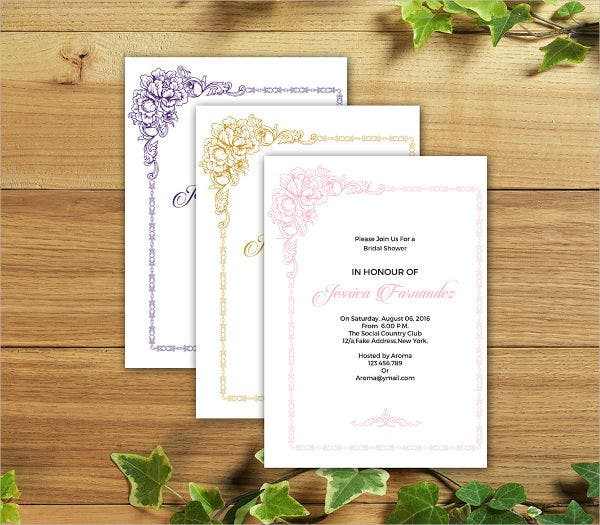 9 Bridal Shower Invitation Templates – Free Printable Wedding Shower Invitations Templates