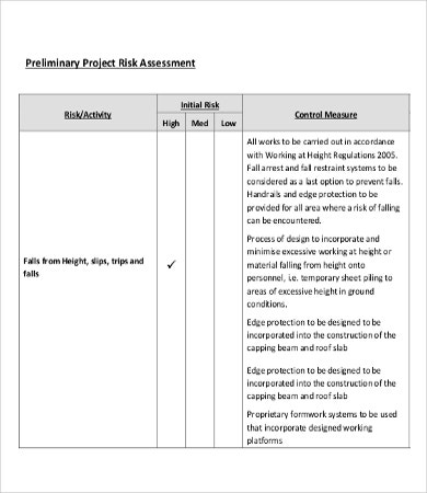Risk Assessment Templates - 9+Word, Pdf Documents Download | Free