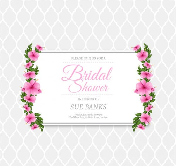 free bridal shower invitation templates downloads - 11 bridal shower invitation templates free premium