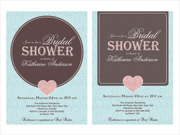 Free Vintage Bridal Shower Invitation Template