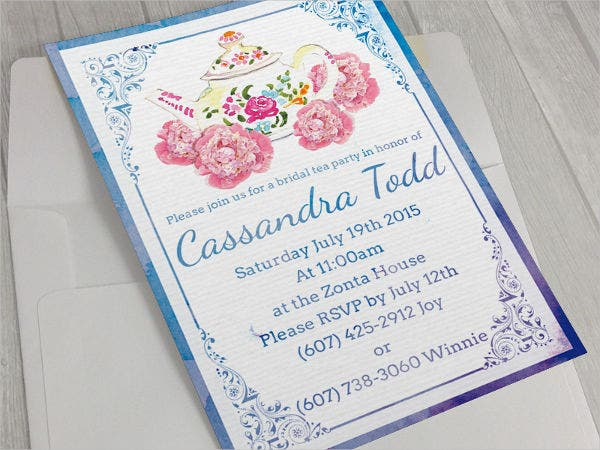 9 Bridal Shower Invitation Templates – Free Templates for Bridal Shower Invitations