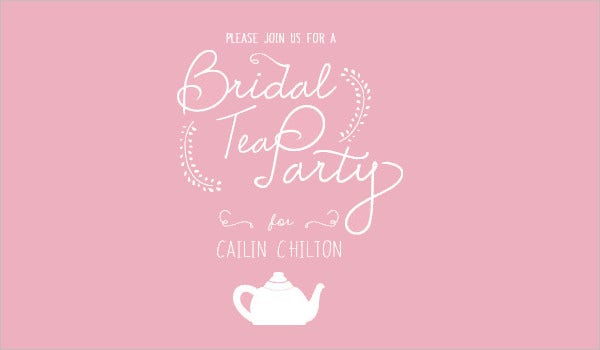 Free Bridal Shower Tea Party Invitation Template