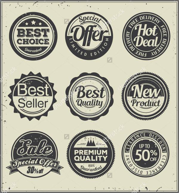 Round Vintage Badge