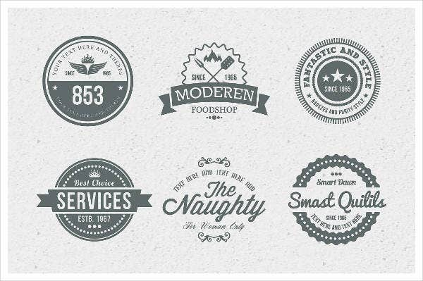 Vintage Badge Labels
