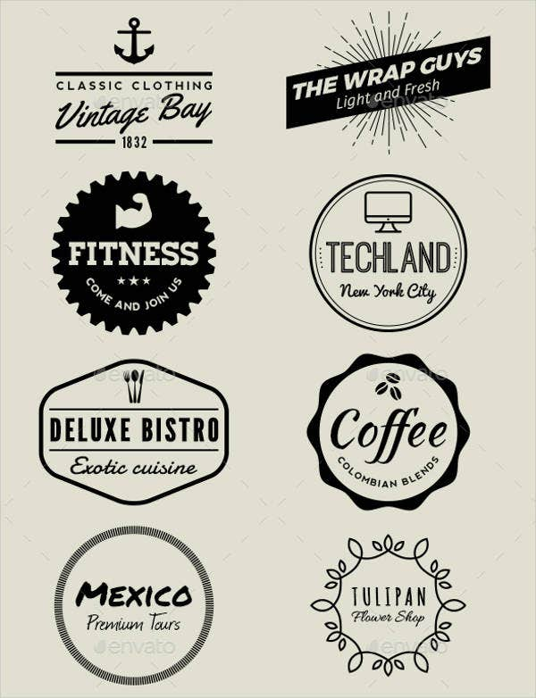 Vintage Badge Shapes