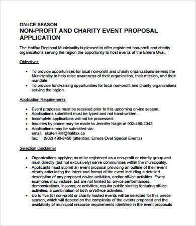 Charity Event Proposal Template  Proposal For Event