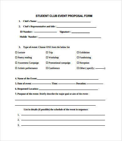 student budget proposal template