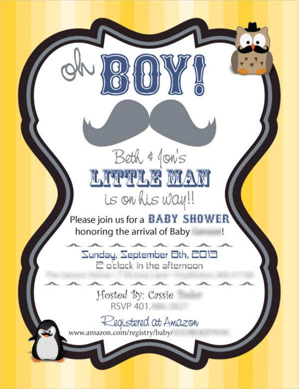 Free Mustache Baby Shower Printables