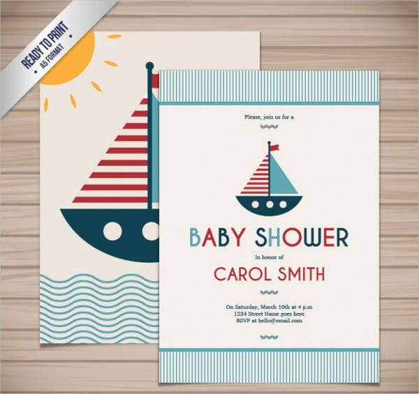 Free Nautical Baby Shower Printable Template