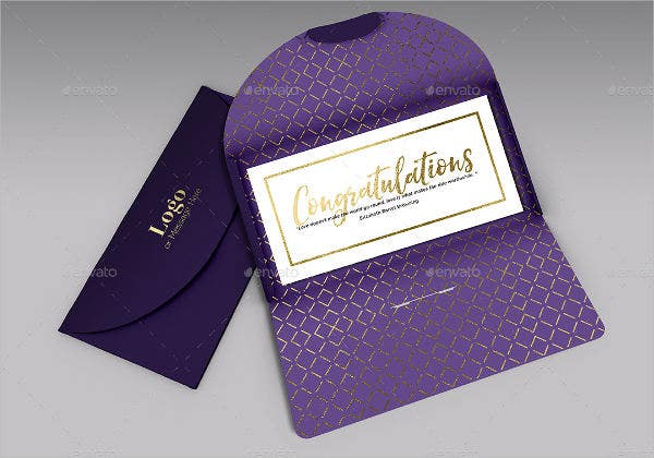 congratulations gift card envelope