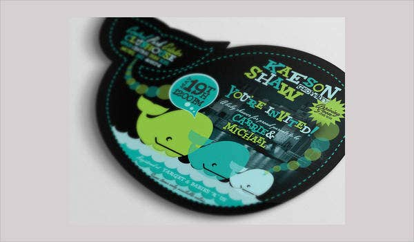 free whale baby shower invitation