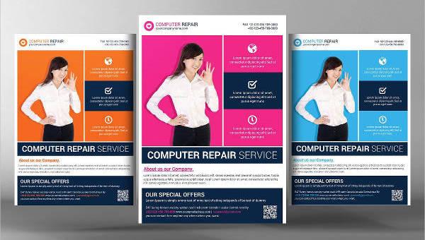 computer reppair service flyer templates