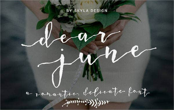 Romantic Wedding Font