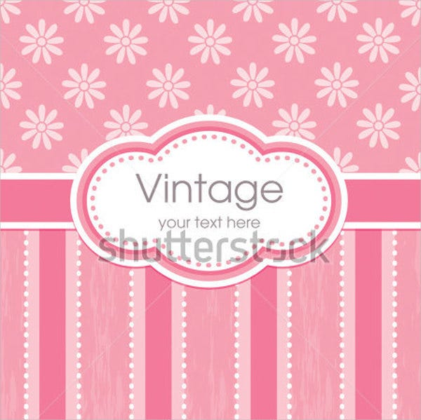 Vector Flower Greeting Card Template