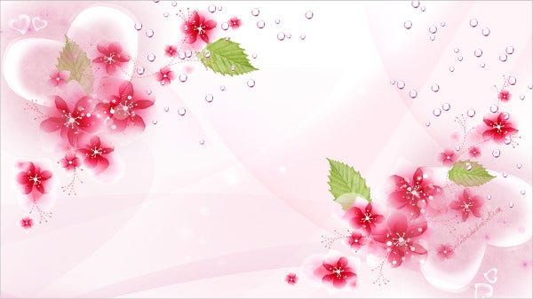 Wallpaper Flower Template