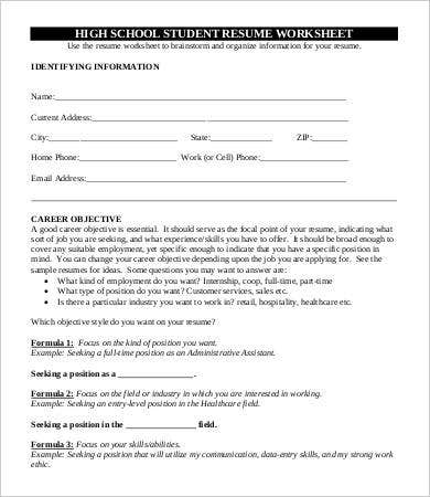 High School Graduate Resume - 7+ Free Word, Pdf Documents Download