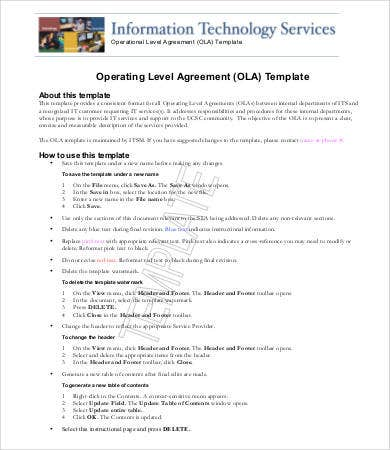 4+ standard service level agreement template | purchase agreement.
