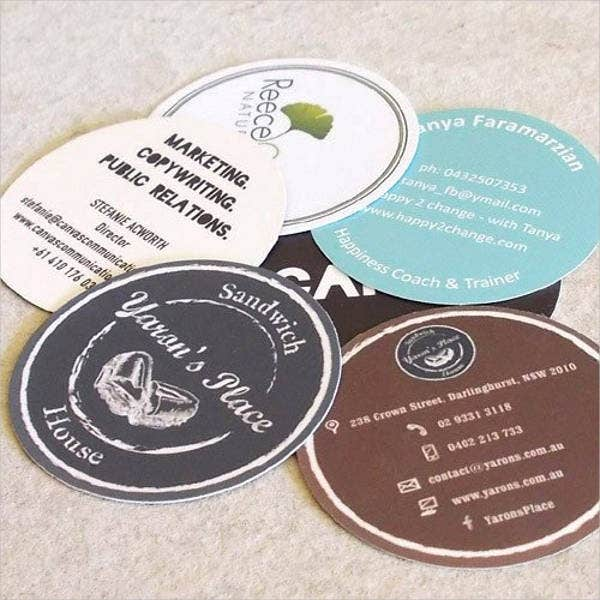 circular die cut cards - Round Business Cards