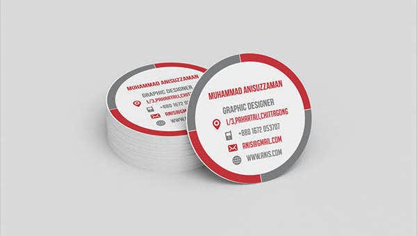 round business card feature images