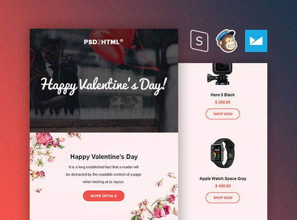 free valentines day email template