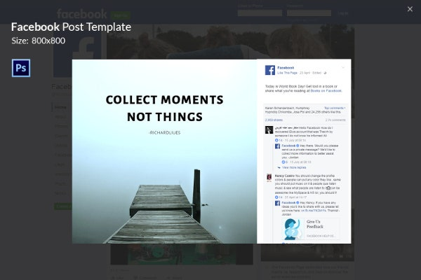 Travel & Lifestyle Facebook Template