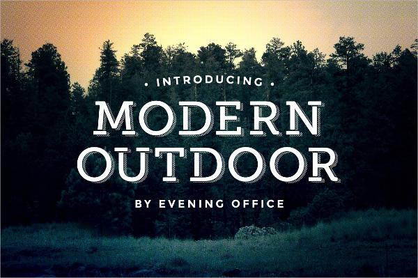 modern serif font
