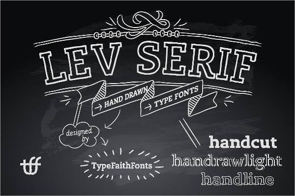 serif chalk font
