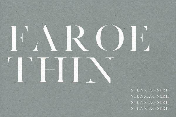 thin serif font