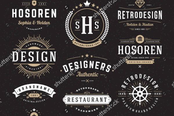 Retro Vintage Typography Logo