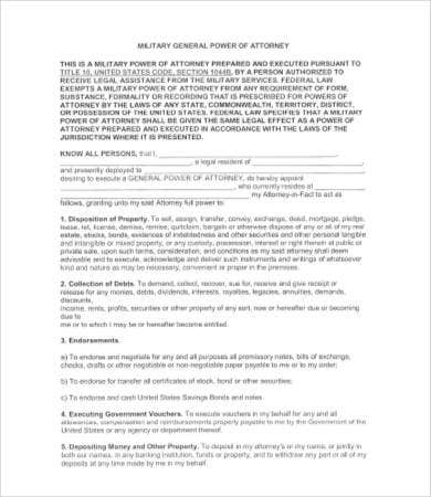 General Power of Attorney Form - 9+ Free Word, PDF Doents ... on contract form, easement form, acknowledgment form, power of appointment form,