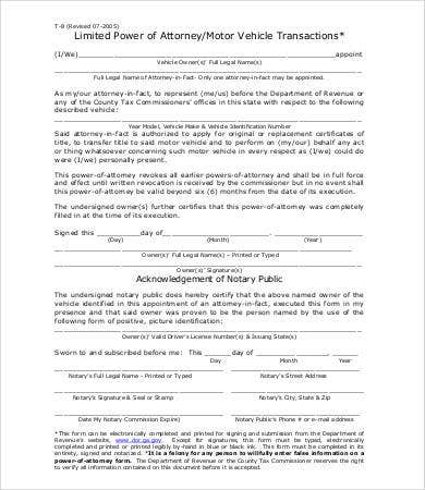 General Power Of Attorney Form 9 Free Word Pdf