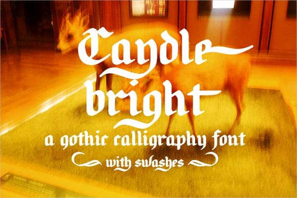 Caligraphy alphabet Font