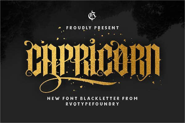 Caligraphy tattoo Font