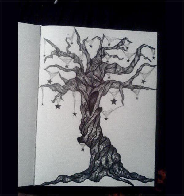 traditional-tree-drawing