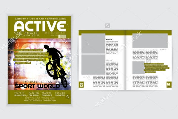 vector sports magazine template