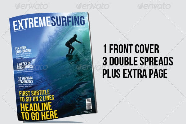 Surfing Magazine Template