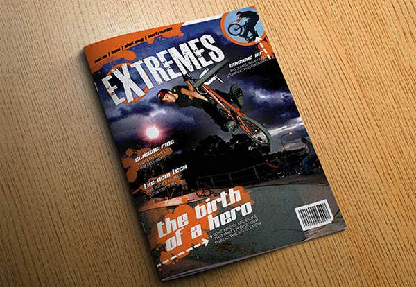 Extreme Sports InDesign Magazine