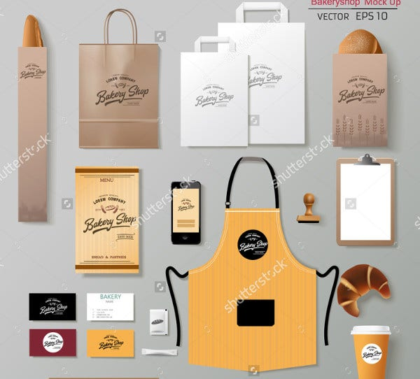 Vector Bakery Corporate Identity Mockup