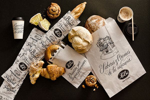 Typography Bakery Branding Mockup