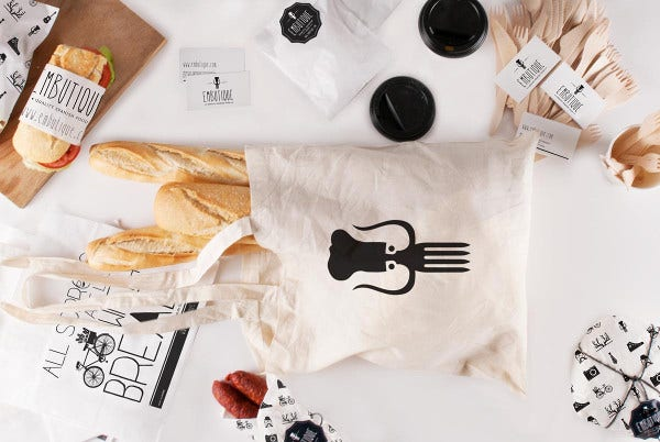 Beautiful Bakery Branding Mockup
