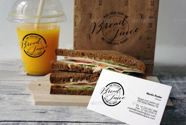 Bakery Branding Sandwich Cafe Mockup